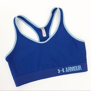 Under Armour || Mid Sports Bra Blue M